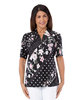 *MariaT* Damen Pflege Shirt Top Polooptik mit Zipper S - 3XL