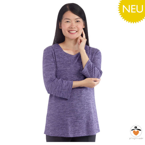*JuliaT* samtweiches Damen Pflege Shirt Langarm Top XS - 3XL