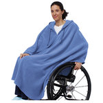 *PonchoT* Fleece Cape mit Kapuze - One Size • Tamonda Pflegemode •
