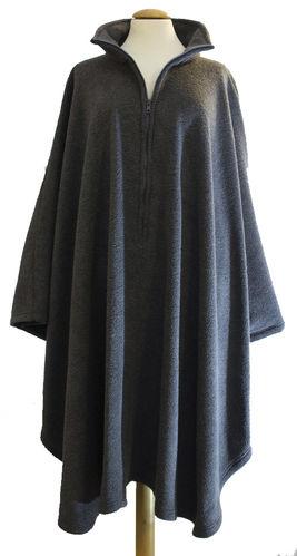 24d341e1ec8a15 *RollyT* Fleece Poncho Stehkragen - One Size • Tamonda Pflegemode •