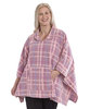 *LauraT* bequemer Polar Fleece Damen Poncho - One Size