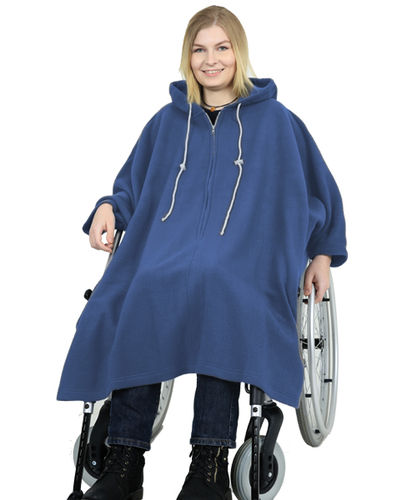 *RollyT* Fleece Cape mit Kapuze -.One Size  • Tamonda Pflegemode •