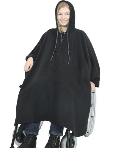 *RollyT* bequemes Rollstuhl Fleece Cape Poncho One Size