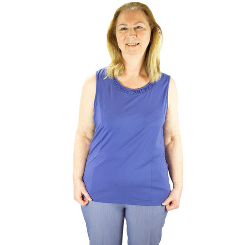 *RomyT* Damen Top Jersey Shirt ohne Arm regulär Gr. 40 - 56