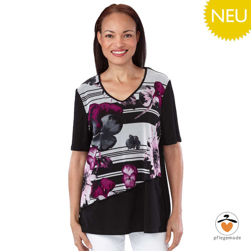 *BibeT* Damen Pflege Shirt kurzärmeliges Chiffon Top S - 2XL
