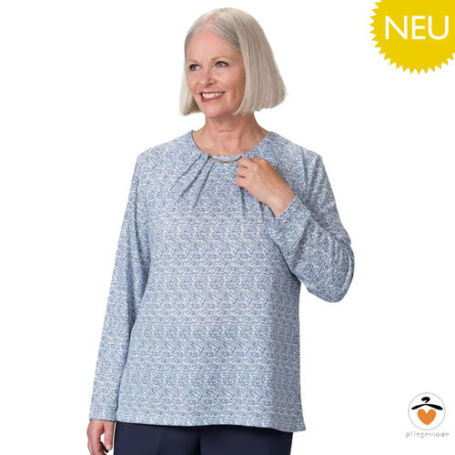 *SusiT* langärmliges Damen Shirt Pflege Top - barrierefrei S - XL