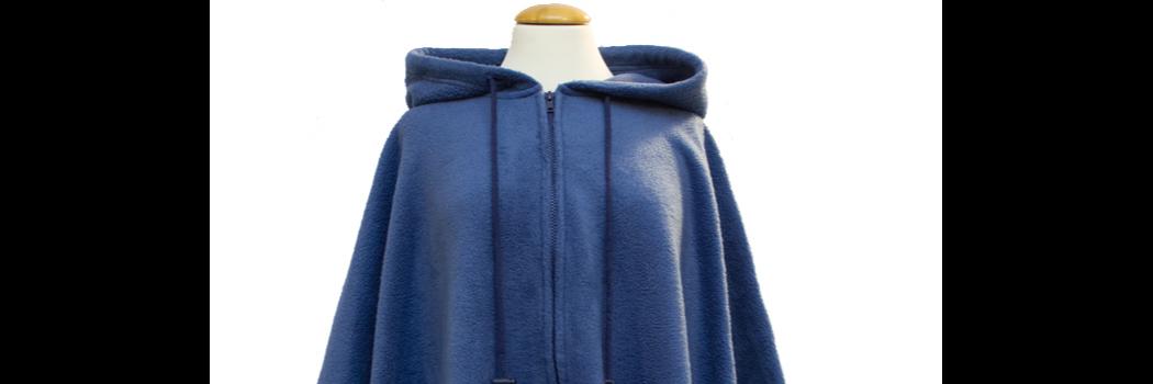 0e18eedf8acf72 Neu *RollyT* - Denim Fleece Poncho One Size • Tamonda Pflegemode •