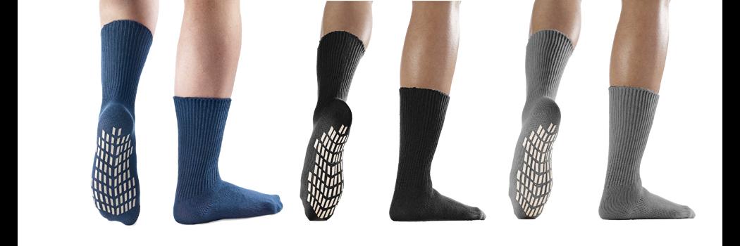 Anti-Rutsch Socken mi Baumwolle schwarz im 2er Pack