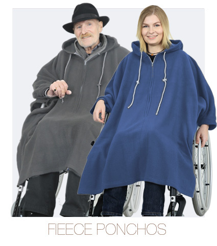 Fleece Ponchos - Indoor Outdoor