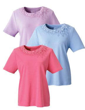 *SilkaT* Damen Pflege Shirt S -2XL • Tamonda Pflegemode •