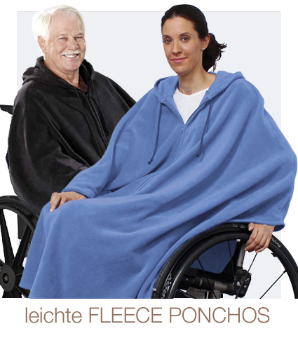 Indoor Fleece Ponchos für Damen & Herren