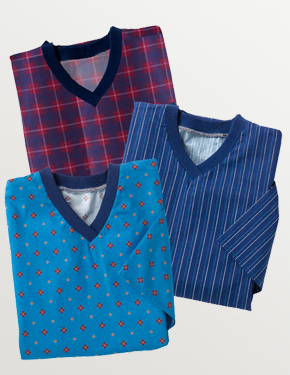 *FranzT* Pflege-Nachthemd Flanell - 94,00 € * - Farben:  Blue Diamond, Navy Pinstripe, Red Navy Plaid