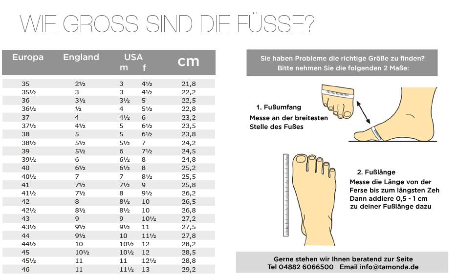 Schuhgröße messen für Damen und Herren